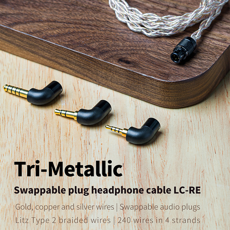 Image 2 - FiiO LC RE LC RE Tri Metallic Swappable plug headphone cable MMCX/0.78mm,Include 3plugs 3.5SE 2.5Balanced 4.4Balanced,for FH7Earphone Accessories   -