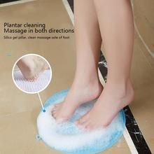 Bath Shower Massager Pad Silicone Back Brush  Suction Cup Slippers Foot Dead Skin Remover Wash Non-Slip Legs