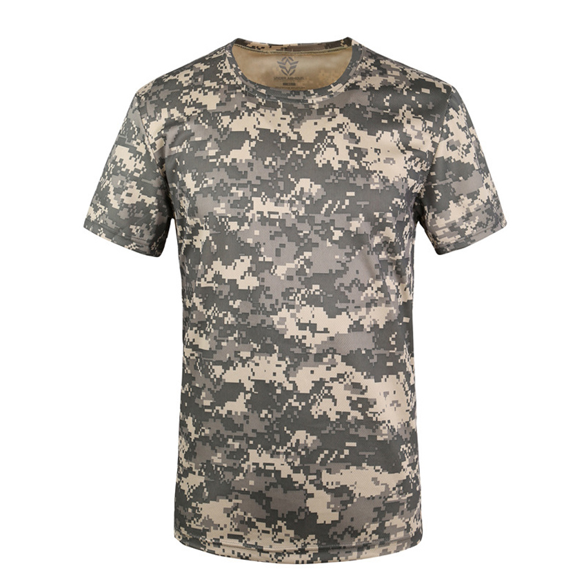 Cheap Summer Men Military Uniform Army Suit 3D Print ACU Desert Camouflage Airsoft Tactical T-shirt Hunting Hiking Tees