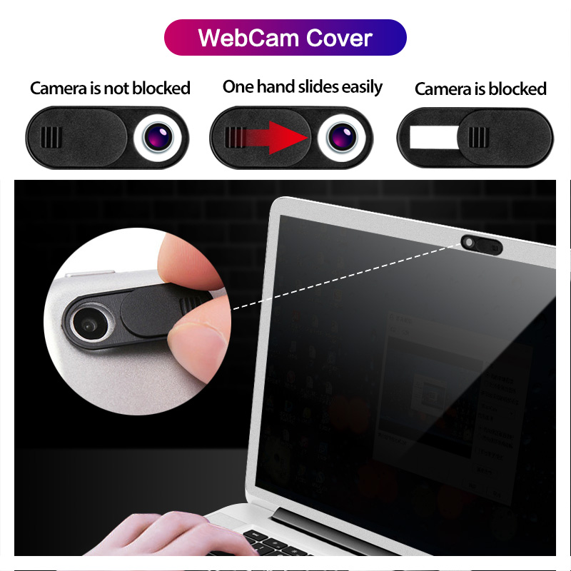 Webcam Cover Camera Privacy Protective Cover Mobile Laptop Lens Occlusion Privacy Cover Anti-Peeping Protector Shutter Slider 2