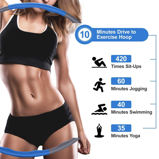 8 Sections Detachable Hola Hoop Fitness Circle Weight Exercise Hoop Adjustable Thin Waist Trainer Massage Hoop Sport Eqiutpment 4