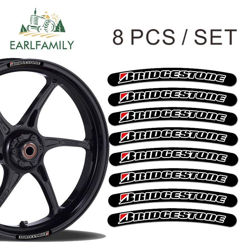 EARLFAMILY 13 см x 1,3 см 8x для Bridgestone Rim Наклейка в полоску для колес набор автомобильных мотоциклетных гонок наклейка плоский клей стикер|Наклейки на автомобиль|   | АлиЭкспресс