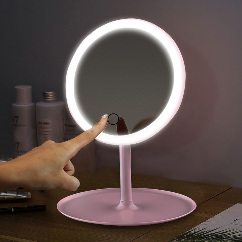 Led Makeup Mirror With Led Light Vanity Mirror Make Up Mirrors With Lights Standing Mirror Led Touch Screen Cosmetic Mirrors Makeup Mirrors Aliexpress