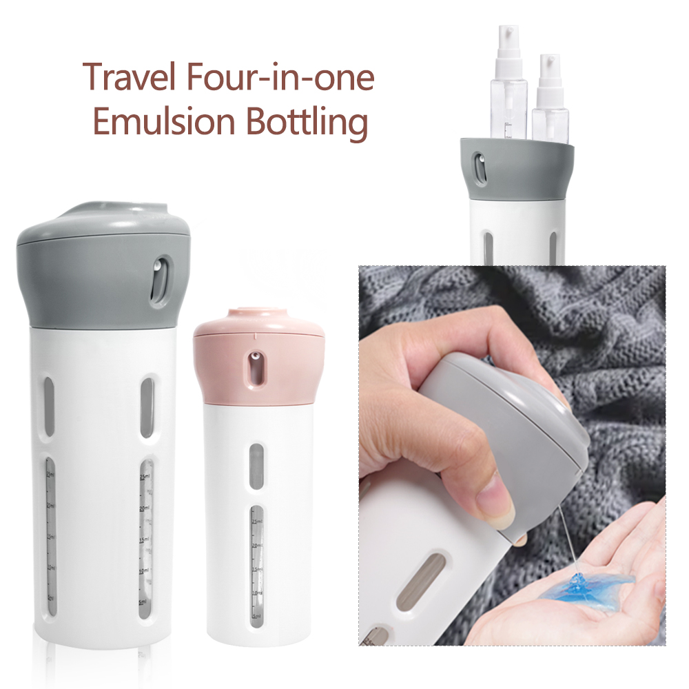 Portable Travel Four-in-one Lotion Shampoo Body Toning Water Bottle Outdoor Leakproof plastic