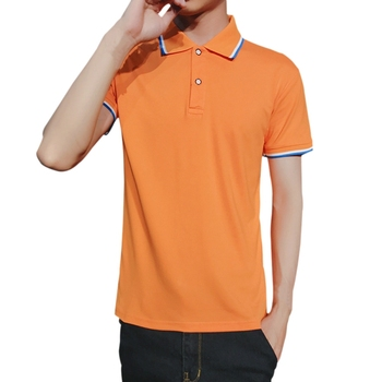 7 Colors Brand New Men's Polo Shirt Men Short Sleeve Polyester Shirt Jerseys Polo Shirts Summer Turn Down Collar Male Clothes 1