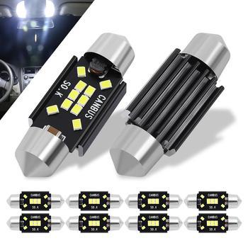 цена на 10pcs Festoon LED Bulb 31mm 36mm 39mm 41mm Canbus C5W C10W Car Dome Light Auto Interior Map Roof Reading Lamp DC 12V White