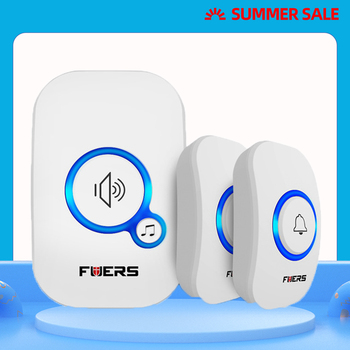 FUERS M557 Wireless Doorbell outer wireless door bell Home Wireless Welcome Chime Alarm With Battery 32 Songs Smart Doorbell wireless doorbell welcome bell home chime door bell alarm 32 songs smart doorbell eu plug doorbell ring waterprooff touch button