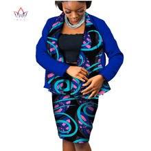 Женский комплект из 2 предметов юбка с длинным рукавом и принтом