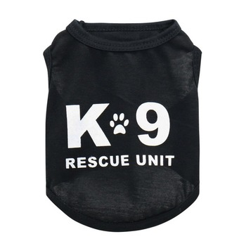 Letter Vest Pet Dog Clothes Fashion Clothing Dogs Super Small Costume Cute Chihuahua Black Print Summer Boy Breathable Mascotas image