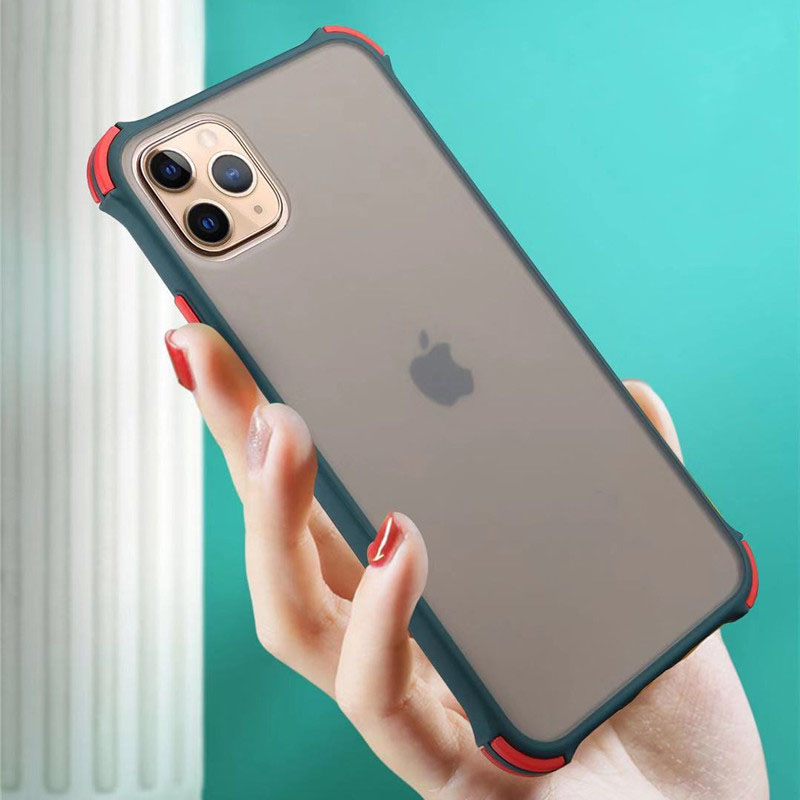 Shockproof Bumper Silicone Phone Case for iPhone 11 Pro Max XR XS Max 10 8 7 Plus iPhone11 11Pro 8Plus 7Plus Clear Armor Cover(China)