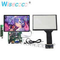 Pantalla LCD de 7 pulgadas, 1280x800 IPS, Panel táctil capacitivo, placa controladora VGA AV para Raspberry PI