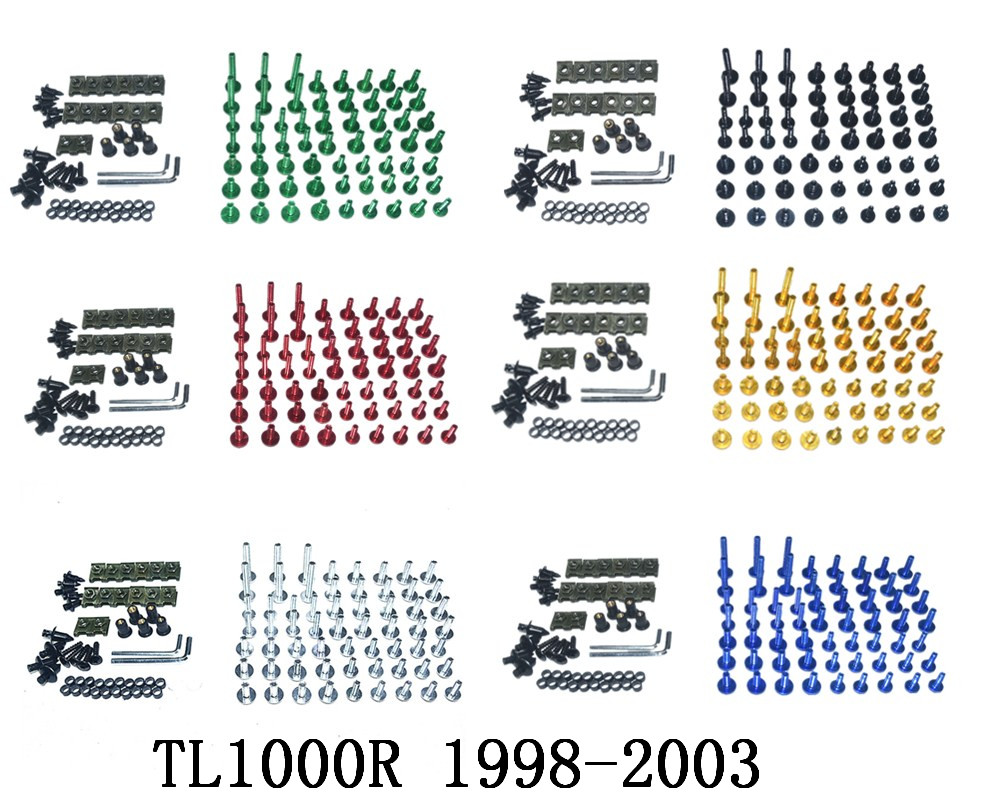 Motorcycle Complete Fairing Bolts Kit Bodywork Screws For Fit <font><b>Suzuki</b></font> <font><b>TL1000R</b></font> 1998-2003 image