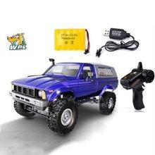 Wpl controle remoto automotivo c24 rc, 2.4g, rc, máquina de movimento, 1:16 4wd carros de crianças alimentados por bateria, presentes rtr