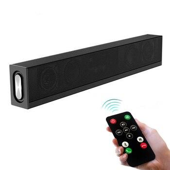 Wireless Soundbar 20W Bluetooth Speaker HiFi Sound Quality Surround Speaker Sound Bar Support TF Card ipad TV PC phone DVD Sound