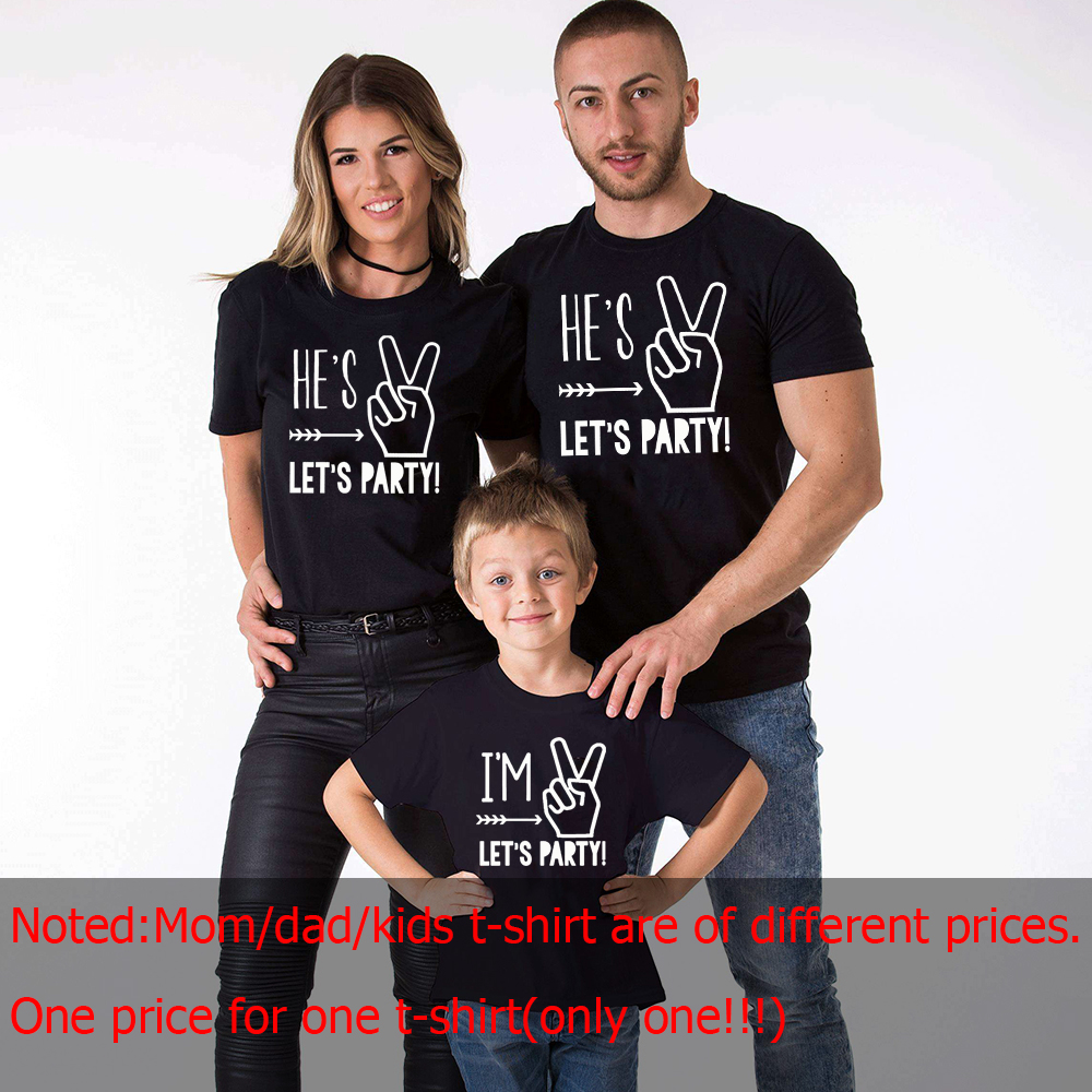 Im Two Lets Party Two Year Old Birthday Shirt Boy 2nd Birthday Boy Shirt Mother Father Son Party Clothes Family Look Tops Tee Matching Family Outfits Aliexpress