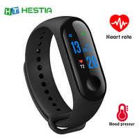 M3 Banda Intelligente Inseguitore di Fitness Fascia Braccialetto Intelligente di Pressione Sanguigna Monitor di Frequenza Cardiaca Impermeabile Smartband PRO Salute Wristband