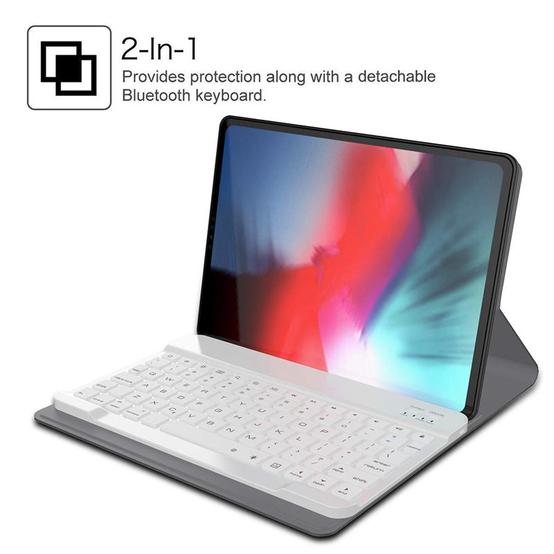 11 Inch Keyboard Case New Detachable Tablet Shell Leather Wireless Keyboard And Smart Connector For iPad Pro Anti Scratch in Keyboards from Computer Office