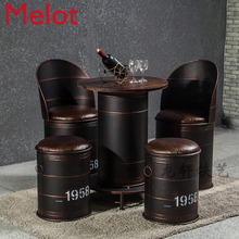 american style round stool…