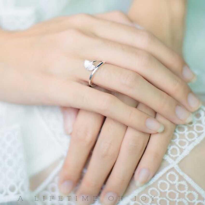 Handmade Gingko Boho แหวน Leaf เปิดนิ้วมือแหวนคริสต์มาส Elegant Silver เครื่องประดับของขวัญหญิง