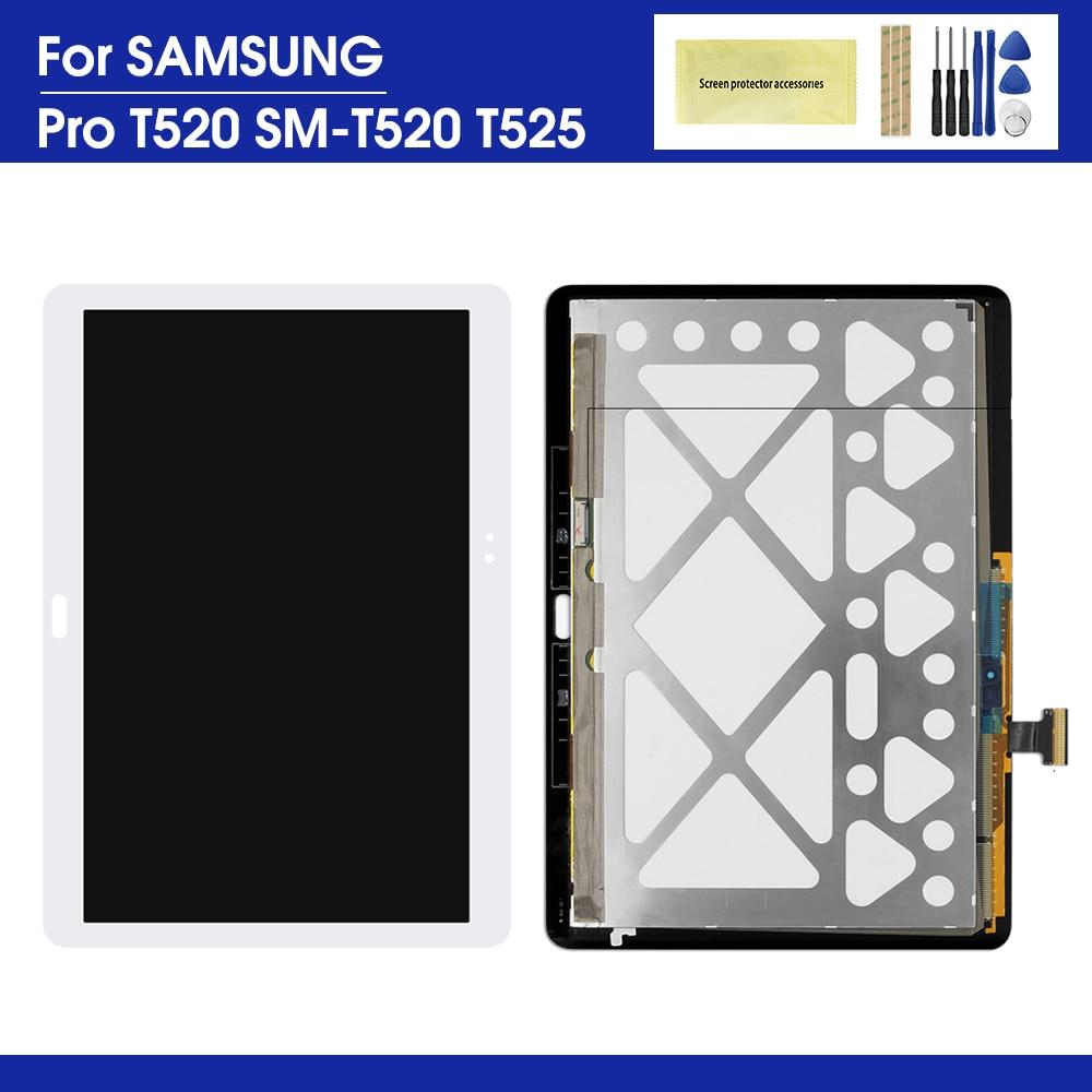 10.1 'lcd 삼성 갤럭시 탭 프로 t520 t525 lcd 디스플레이 터치 패널 화면 유리 디지타이저 어셈블리에 대 한 삼성 t520 lcd