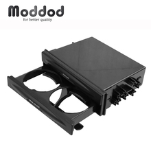 Universal One Din Car Radio CD Refitting Pocket Stereo Dash Installation Mounting Trim Fascia Kit Drawer With Drink Cup Holder cheap Moddod CN(Origin) Fascias 0 5kg Use for fill the gap left when you install a CD MP3 17 8cm Black Dashboard installation kit