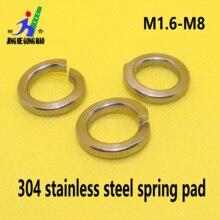 цена на 1/50/100pcs GB93 A2 304 Stainless Steel Spring Split Lock Washer Elastic Gasket M1.6 M2 M2.5 M3 M4 M5 M6 M8 M10 M12 M16 M20 M24