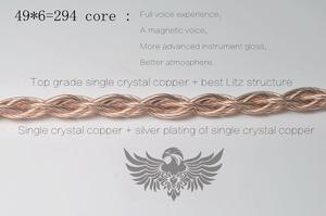 Image 5 - Hoogste Grade Single Crystal Koper + Single Crystal Koper Electroplated Zilver 49 Hoge Specificatie Litz Structuur Mmcx 0.78
