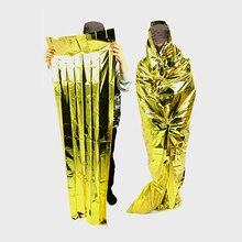 Survival Sleeping Bag Outdoor Nature Hike Camping Portable Waterproof Reusable Emergency Foil