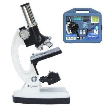 Conjunto de microscopio para niños Datyson Explorer 1200X 2X0003, Maleta azul, ocular fijo, tubo de filtro giratorio, bandeja 2X0003WHITEBLUE
