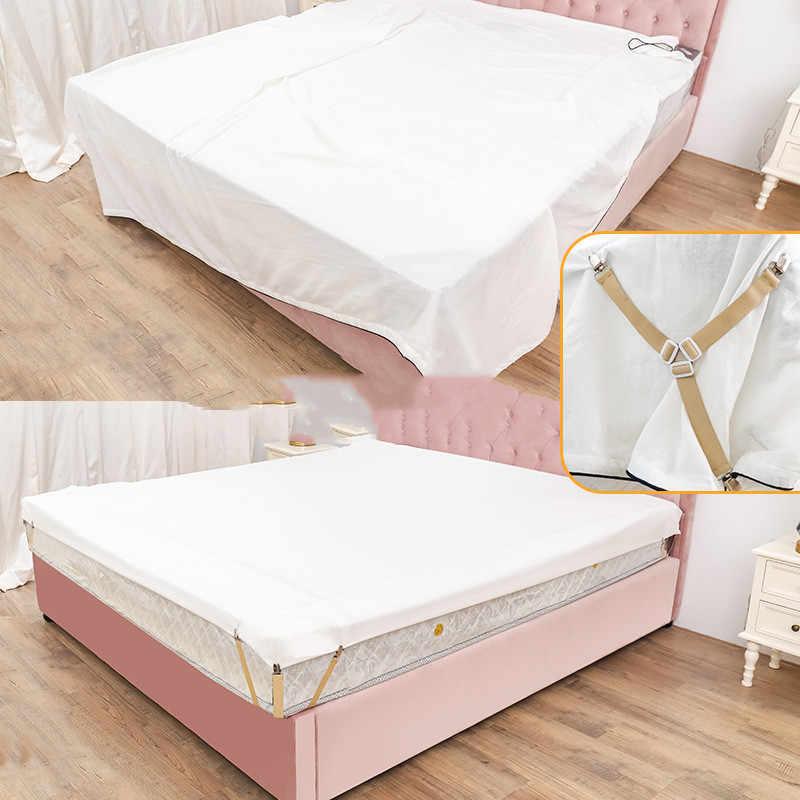 1 PC คลิปเตียงแผ่นเข็มขัด Fastener ที่นอนลื่นคลิปผ้าห่ม Gripper