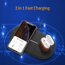 NILLKIN כפול אלחוטי מטען מהיר טעינת Pad 2 ב 1 עבור iPhone 11/11 Pro/11 פרו מקס/X/XS עבור Samsung S20/11/10/9/8 עבור xiaomi