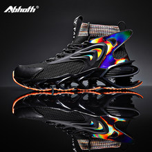 Abhoth Casual Shoes Men Blade Shoes Comfortable Shock-absorbing Breathable Fly Woven Mesh Men Sneakers Outdoor Non-slip Size 45