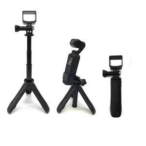 Image 1 - Mini desktop stativ Selfie stick halter aluminium legierung Stange montieren dji kamera Für DJI osmo Tasche/osmo Tasche 2 kamera