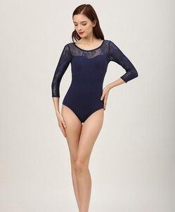 Image 3 - Collants de balé adulto 2020 nova alta qualidade prática confortável dança traje ginástica adulto azul marinho collant ballet