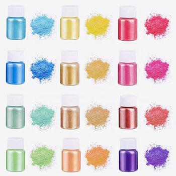 Pigment perłowy proszek mydło świeca makijaż produkt DIY paliwo MSDS bezpieczny materiał ciała skóry kolorowy rysunek tanie i dobre opinie CN (pochodzenie) Mica HI-ZHYM01 Mica Pigment To make soap To make a candle Resin model Cosmetics Making