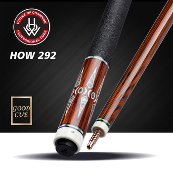 HOW Cue H-292 Billiard Pool Cue 12.5mm Tip Professional North American Maple shaft Kit Handmade Billar with Excellent Gifts offical peri exa 06 billiard pool cue 12 75mm black ice tip professional maple shaft handmade billar cue stick kit high end cues