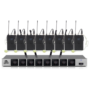Professional wireless microphone system with 8-channel headset microphone school outdoor activity stage microphone wireless