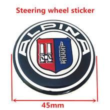 2 uds 45mm epoxi de alta calidad de Metal pegatinas de diseño de complemento para el coche para Alpina coche rueda logotipo insignia emblema calcomanías