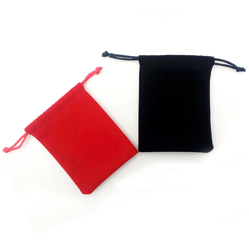 Jewelry Velvet Bag Ring Necklace Earrings Jewelry Protection Drawstrings Pouches Jewelry Gift Display Packing Bags 9x7cm