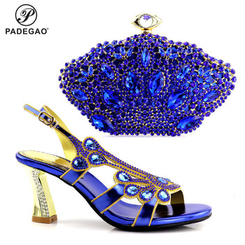 2020 Classics Style Nigerian Women Shoes And Bag To Match Set Italian High Heels Party Shoes And Bag Set For Wedding Dress