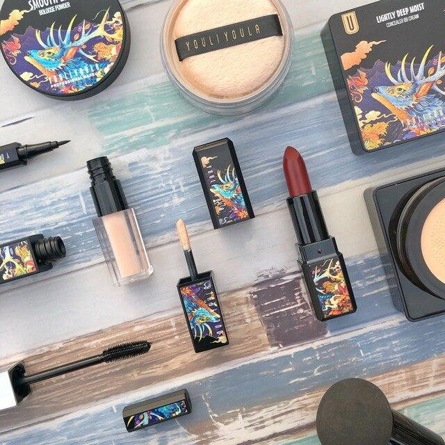 7 unids/set maquillaje juegos incluyen uso diario del polvo de cara Fundación corrector Lápiz Delineador de ojos maquillaje cosmético de la caja de regalo 4