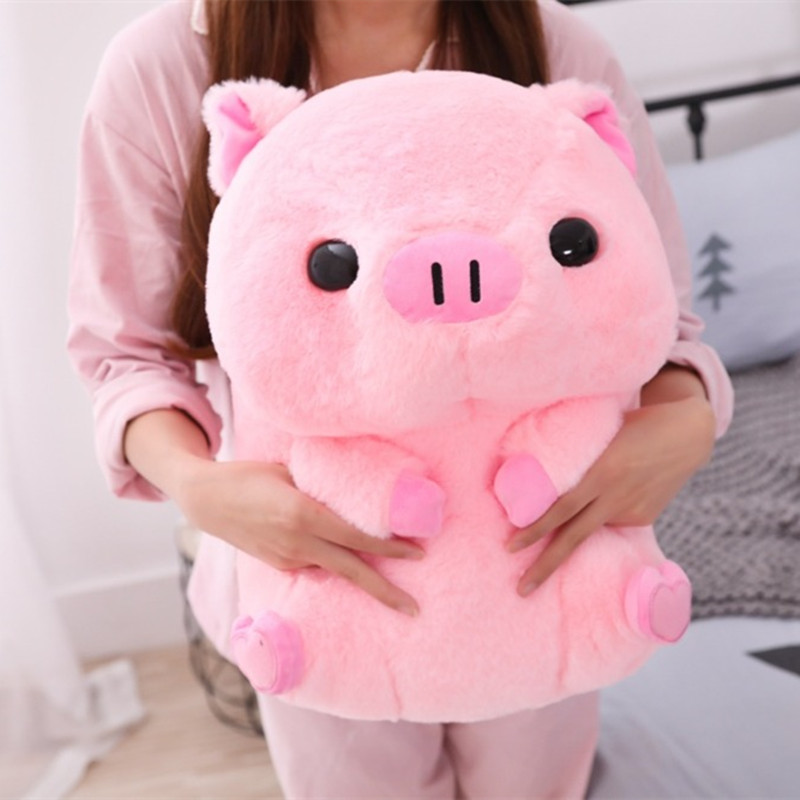 40cm Lovely Fat Round Pig Plush Toys Stuffed Cute Animals Dolls Baby Piggy Kids Appease Pillow For Girls Birthday Chrismas Gifts