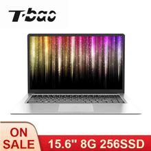 T-bao X8S 15.6inch Ultra-thin Laptop 1080P IPS Celeron J3455 8G Memory 256G SSD Portable Co