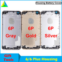 Housing Body for iPhone 6 Plus Back Housing Frame Battery Cover for iPhone 6S Rear Door Case Middle Frame Replacement with LOGO(China)