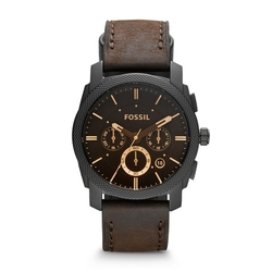 FÓSSEIS Relógio Do Vintage para Homens Máquina Mid-Size Chronograph Brown Relógio De Couro Masculino Negócio Relógio de Pulso Marca de Luxo FS4656P