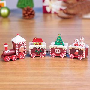 Christmas Train Wood for Home Xmas Tree Holiday Party Christmas Decoration kid toys gift new year Ornament navidad 2021