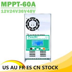 Контроллер солнечного заряда PowMr MPPT 60A 50A 40A 30A с подсветкой LCD 12V 24V 36V 48V солнечный регулятор для максимального входа в панель солнечных батаре...