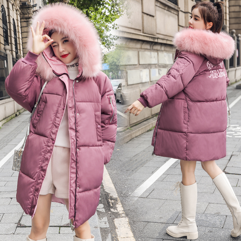 Big Fur Winter Coat Female Jacket New 2019 Hooded   Parka   Warm Winter Jacket Women Wadded Ladies Plus size 6XL Women's down jacket