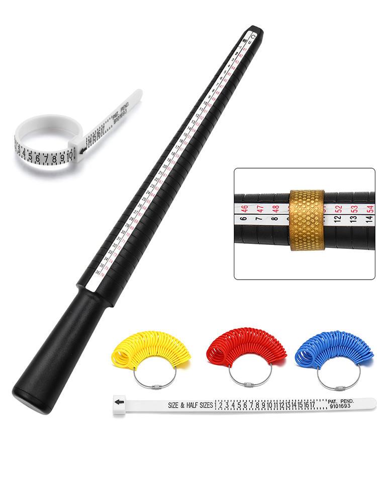 1pcs Professional Jewelry Tools Ring Mandrel Stick Finger Gauge Ring Sizer Measuring