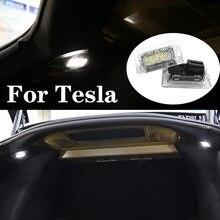Светодиодная лампа для освещения салона автомобиля дверь багажника ног перчаточного ящика свет лампы Атмосфера для Tesla модель X модель S 3